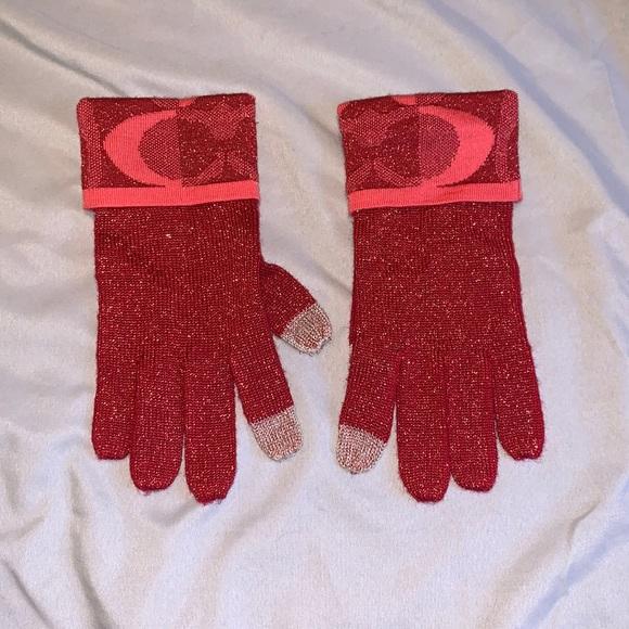 Coach women's tech gloves